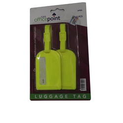 OFFICEPOINT OP LUGGAGE TAG 21 13CM YELLOW