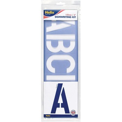 Helix Signwriting Stensil Kit H73X10 100MM