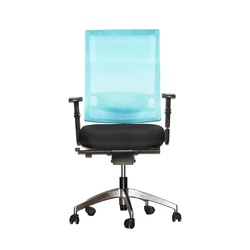 Officepoint Mid Back Office Chair KI-03W Blue