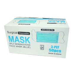 Surgical Face Mask 3-Ply 50 Pieces