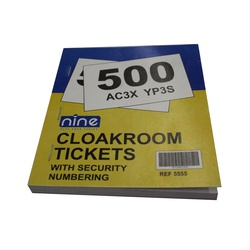 TICKETS CLOAKROOM 500