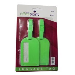 OFFICEPOINT OP LUGGAGE TAG 21 13CM GREEN