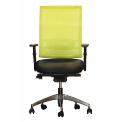 Officepoint Mid Back Office Chair KI-03W Yellow