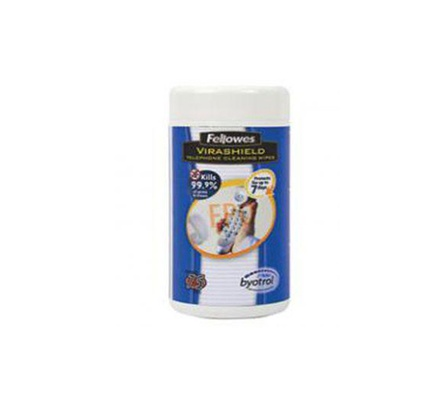 TELEPHONE WIPES VIRASHIELD 75'S FELLOWES 2211401