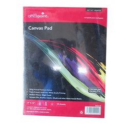 OfficePoint Art Canvas Pad 10 Sheet 265GR PACV-49 9 x 12