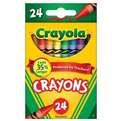 CRAYOLA CRAYONS 24COLORS #52-3024