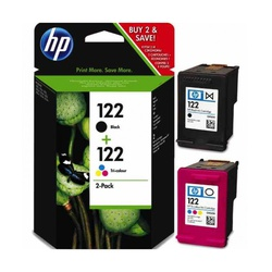 HP INK CART 122 2PACK BLACK/TRI-COLOUR  (CR340HE)
