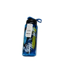 WATER BOTTLE CYLINDER PRINTED BLUE #1049 946ML