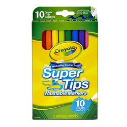 CRAYOLA MARKER 10 COLORS WASH SUPER TIP #58-8610