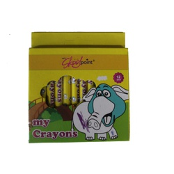 OFFICEPOINT CRAYONS 12 COLOURS