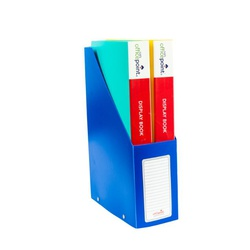 Officepoint File Rack Magazine PVC Folded DR28 Blue