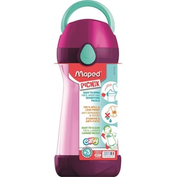 Maped Picnik Spillproof Water Bottle 430ml 871416 Pink