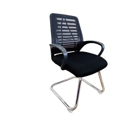 OfficePoint Mesh Visitor Chair 108C Chrome Black