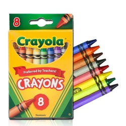 CRAYOLA CRAYONS 8COLORS #52-3008