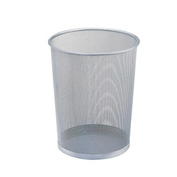 OFFICEPOINT DUSTBIN MESH MP5008 SILVER
