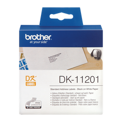 Brother Tape DK-11201 Black on White