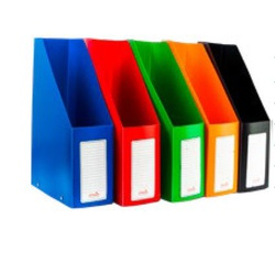 Officepoint File Rack Magazine PVC Folded DR28 Orange