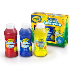 Crayola Primary Washable Finger Paint 55-1310 3CT