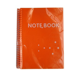 OFFICEPOINT NOTEBOOK 70P2512 SPIRAL A5 ORANGE