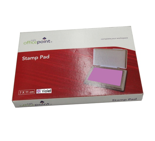 OFFICEPOINT STAMP PAD VIOLET PLASTIC BODY 9852