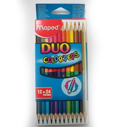 MAPED DUO COLOUR PENCIL 24 829600