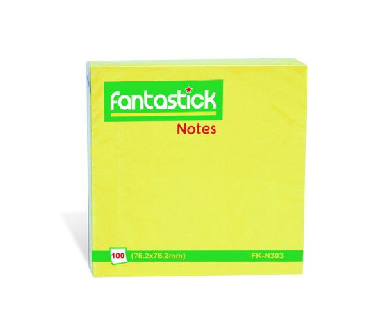 FANTASTICK STICK NOTES 3X3 FLUOR FK-N303-YWF