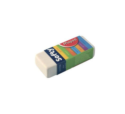 MAPED ERASER 021792 SOFTY X2 BLISTER