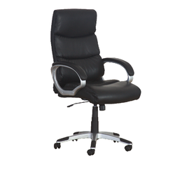 Zelos- Mid Back Leather Chair PU ROTATED 1803M