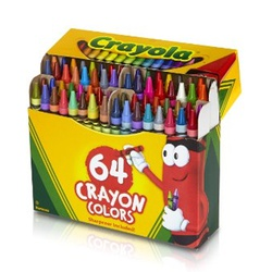 CRAYOLA CRAYONS 64 COLORS #52-0064