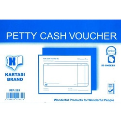 KARTASI BRAND PETTY CASH VOUCHER A6 283