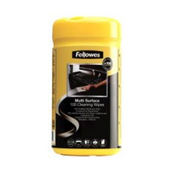 FELLOWES CLEAN SURFACE WIPE 100'S 99715