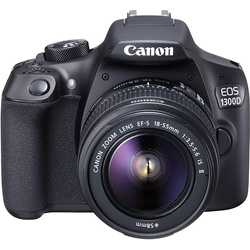 Canon EOS 1300D 18MP Digital SLR Camera Black