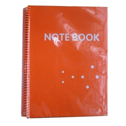 OFFICEPOINT NOTEBOOK 70P1612 SPIRAL A4 ORANGE