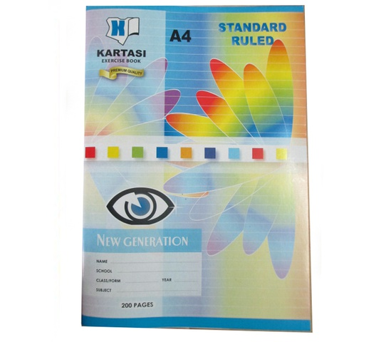 KARTASI BRAND EXERCISE BOOK A4 200 PAGES RULED