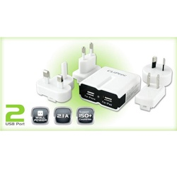 CLIPTEC DUAL USB CHARGER KIT 2100A GZU390