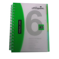 OFFICEPOINT SUBJECT BOOK 70P2506 GREEN A5