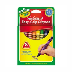 CRAYOLA CRAYONS 8 COLOR TRIA. WASHABLE #81-1308