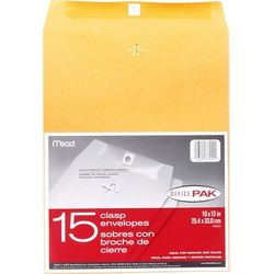 Mead Envelope 76022 OR 10X13 Kraft Gummed Pin