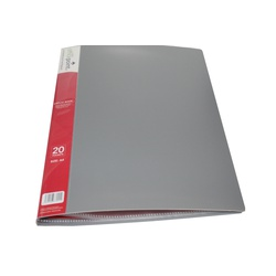 OfficePoint Display Book 20 Pocket 20PK US20 Gray