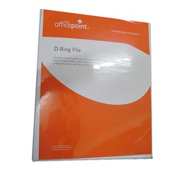 "OfficePoint Ring Binder 4  Ring 1540D 1.5"" - White"
