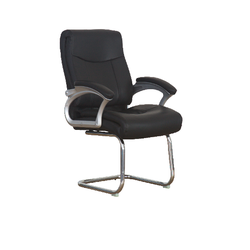 Zion - Leather Visitor Chair PU Rotated 1649-V