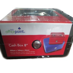 "officepoint 8"" Metal Cashbox - black"