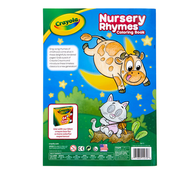 Crayola Coloring Book Nursery Rhymes 96 Pages 04-1079 Office Mart