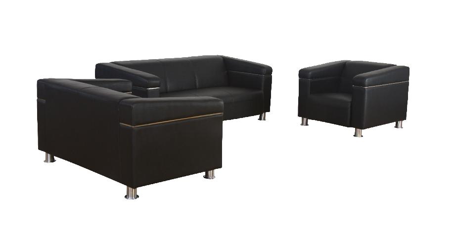 Sheba 2 Seater Leather Sofa Office Mart